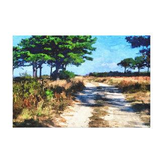 El camino impresión en lienzo