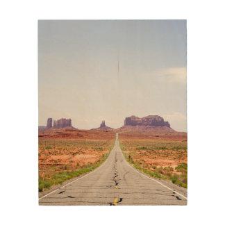 El camino viajó menos impresión en madera