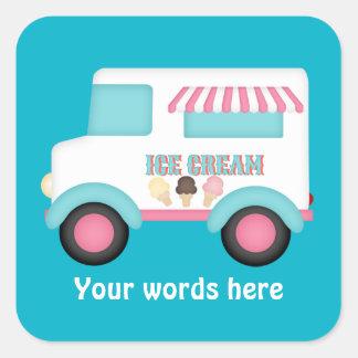 El camión del helado añade al pegatina de las