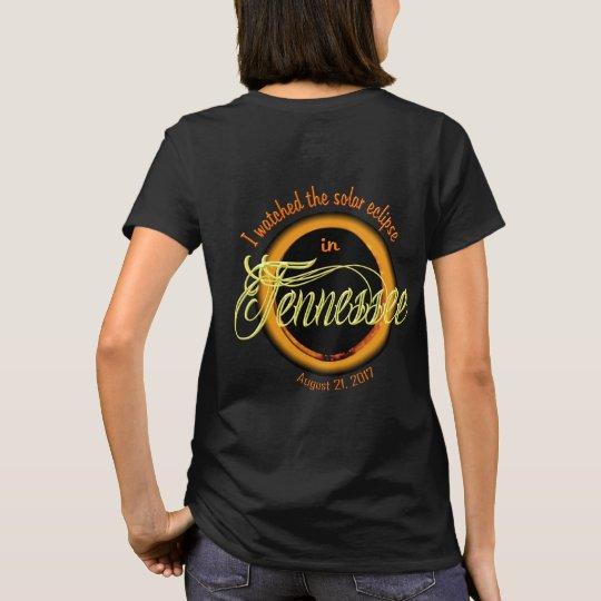 El camisetas del eclipse solar de las mujeres