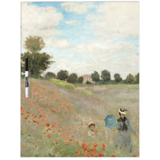 El campo de la amapola de Claude Monet florece al Pizarra Blanca