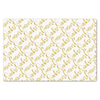 el cáncer chupa la fuente de lujo del oro papel de seda