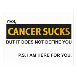 El cáncer chupa pero no le define postal