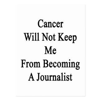 El cáncer no me guardará de hacer periodista postal