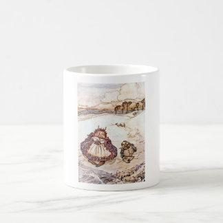 El cangrejo y su taza de los niños de la madre
