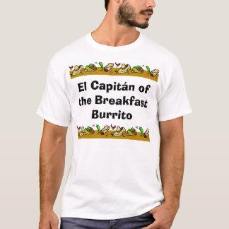 EL Capitan del Burrito del desayuno Camiseta