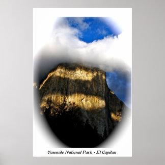 EL Capitan en el parque nacional de Yosemite Poster
