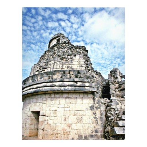 EL Caracol, el observatorio, Chichen Itza Flyer Personalizado
