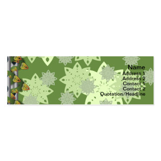 El caramelo florece grande tarjetas de visita mini