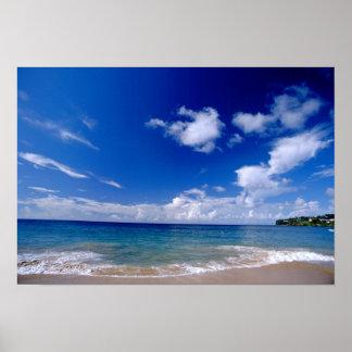 El Caribe, pocas Antillas, las Antillas, Póster