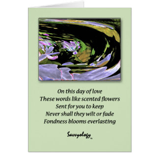 El cariño florece eterno - tarjeta de felicitación