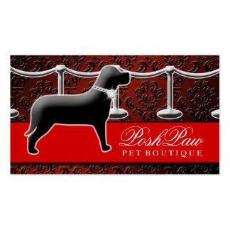 El carmesí elegante de la alfombra roja del tarjetas de visita
