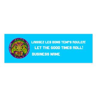 """El carnaval 3"""" x 1"""", opinión flaca de la tarjeta plantillas de tarjetas de visita"""