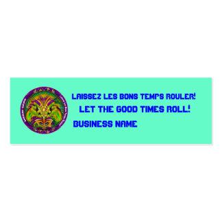 """El carnaval 3"""" x 1"""", opinión flaca de la tarjeta tarjetas de visita"""