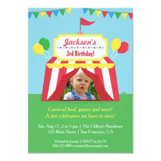 El carnaval colorido embroma la foto de la fiesta invitación 11,4 x 15,8 cm