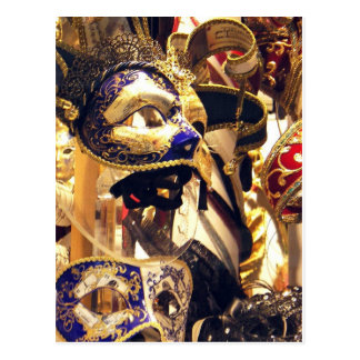 El carnaval enmascara 1 postal