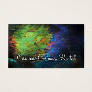 El carnaval viste la tarjeta coloreada alquiler de