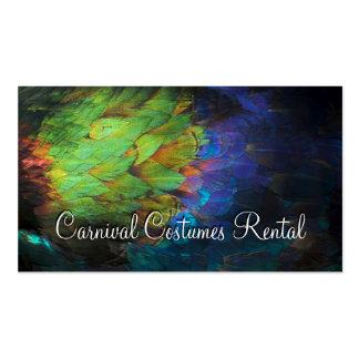 El carnaval viste la tarjeta coloreada alquiler de tarjetas de visita
