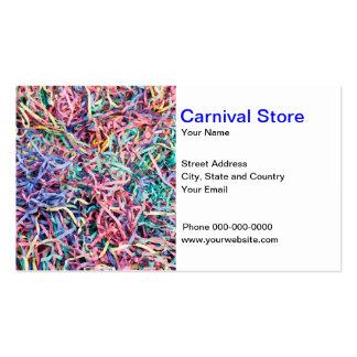 El carnaval viste la tarjeta de visita