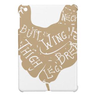 El carnicero tipográfico del pollo del vintage