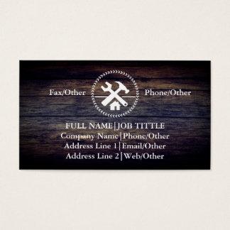 El carpintero profesional del constructor equipa tarjeta de visita