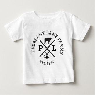 El carril agradable cultiva el gorra camiseta de bebé