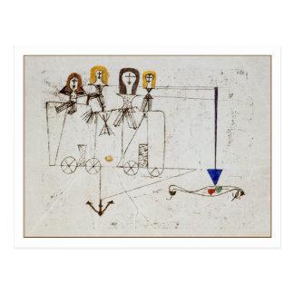 El carro de la virtud de Paul Klee Postal