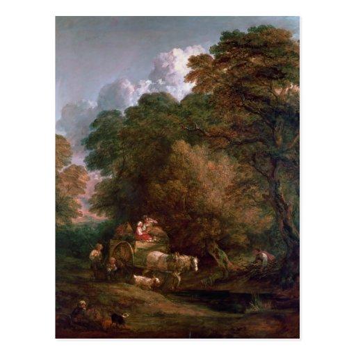 El carro del mercado, 1786 postal