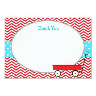 El carro rojo le agradece las tarjetas invitación 8,9 x 12,7 cm