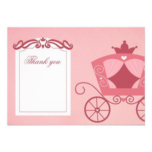 El carro rosado dulce elegante le agradece cardar invitaciones personales
