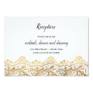 El casarse antiguo de la tarjeta de la recepción