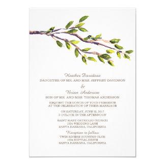 El casarse cepillado de las ramas invita invitación 12,7 x 17,8 cm
