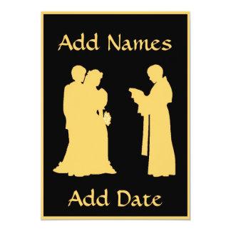 El casarse con la tarjeta del sacerdote invitación 12,7 x 17,8 cm