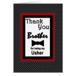 El casarse de Brother USHER le agradece con la paj Felicitación