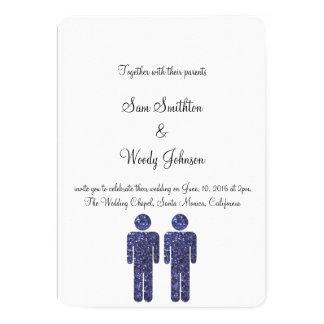 El casarse de dos muchachos invitación 12,7 x 17,8 cm