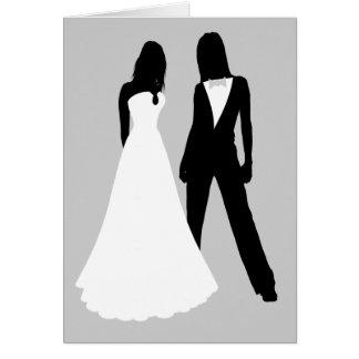 El casarse de dos novias tarjeta
