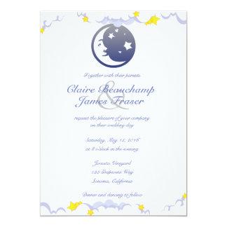 El casarse de la luna, de las estrellas y de las invitación 12,7 x 17,8 cm