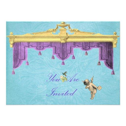 El casarse de las cortinas del teatro invita comunicado personal