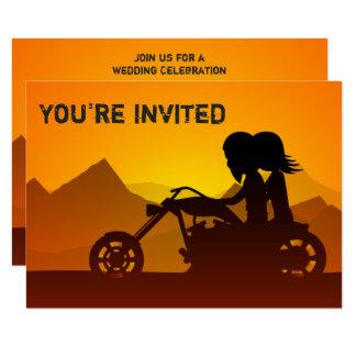 El casarse de las montañas de la motocicleta del invitación 8,9 x 12,7 cm
