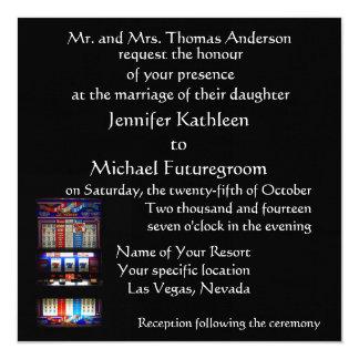 El casarse de Las Vegas afortunado en amor Invitación 13,3 Cm X 13,3cm