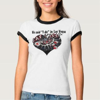 El casarse de Las Vegas dice que lo hago Camiseta