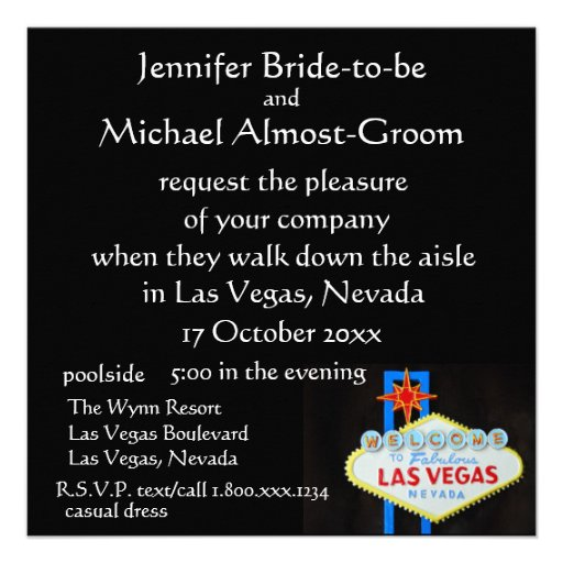 El casarse de Las Vegas invita Anuncio