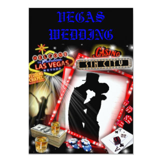 El casarse de Las Vegas invita Invitación 12,7 X 17,8 Cm