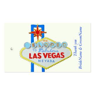 El casarse de Las Vegas le agradece etiqueta del Tarjetas De Visita