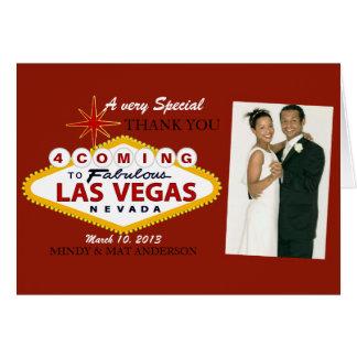 El casarse de Las Vegas le agradece las tarjetas