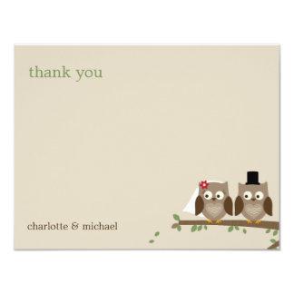 El casarse de los búhos del amor le agradece las invitación 10,8 x 13,9 cm