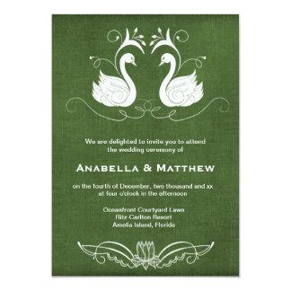 El casarse de los cisnes invitación 12,7 x 17,8 cm