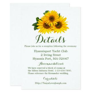 El casarse de los detalles de las direcciones del invitación 11,4 x 15,8 cm