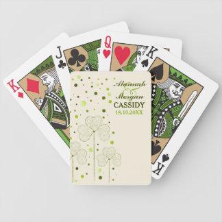 El casarse de los lunares de los tréboles baraja de cartas