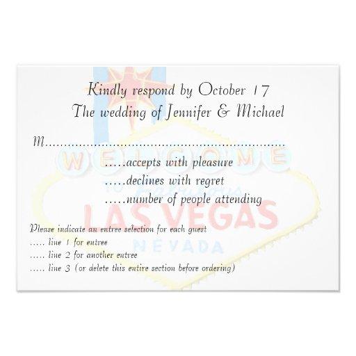 El casarse de RSVP Las Vegas Comunicado Personalizado